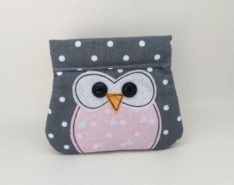 Owl Coin Purse, change purse, snap bag
