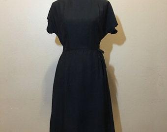 Vintage 60s Black Dress | Vintage Mad Men Style Dress