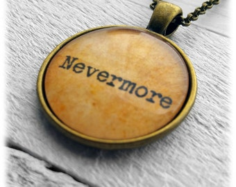 Edgar Allan Poe - Nevermore - Pendant and Necklace.