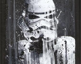 Storm Trooper Wooden Plaque