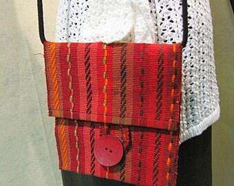 Red Woven Bag, Red Woven Crossbody Bag, Red Woven Shoulder Bag, Southwestern Woven Bag, Southwestern Crossbody Bag, Southwestern Shoulder