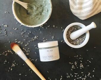 Organic/Vegan Face mask: Sana Terra Complexion Clay w/ Cambrian blue clay