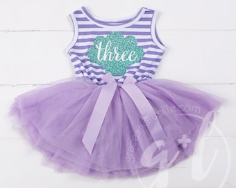 Third Birthday outfit dress, Little mermaid birthday outfit, Mermaid Third Birthday Outfit, Purple and aqua, Seashell outfit, Under the sea