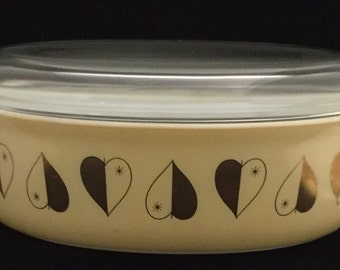 Pyrex gold hearts