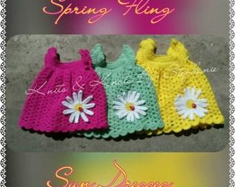 Crochet Daisy Dress