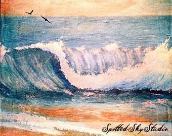 Fine Art Grunge seascape Canvas Print