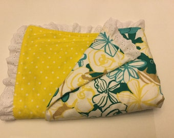 Sunshine and flowers baby blanket