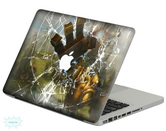 Broken Glass Decal Mac Stickers Macbook Decal Macbook Stickers Apple Decal Mac Decal Stickers