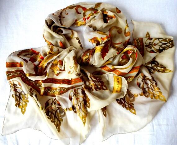 silk scarf with motives by vakko silk scarf by