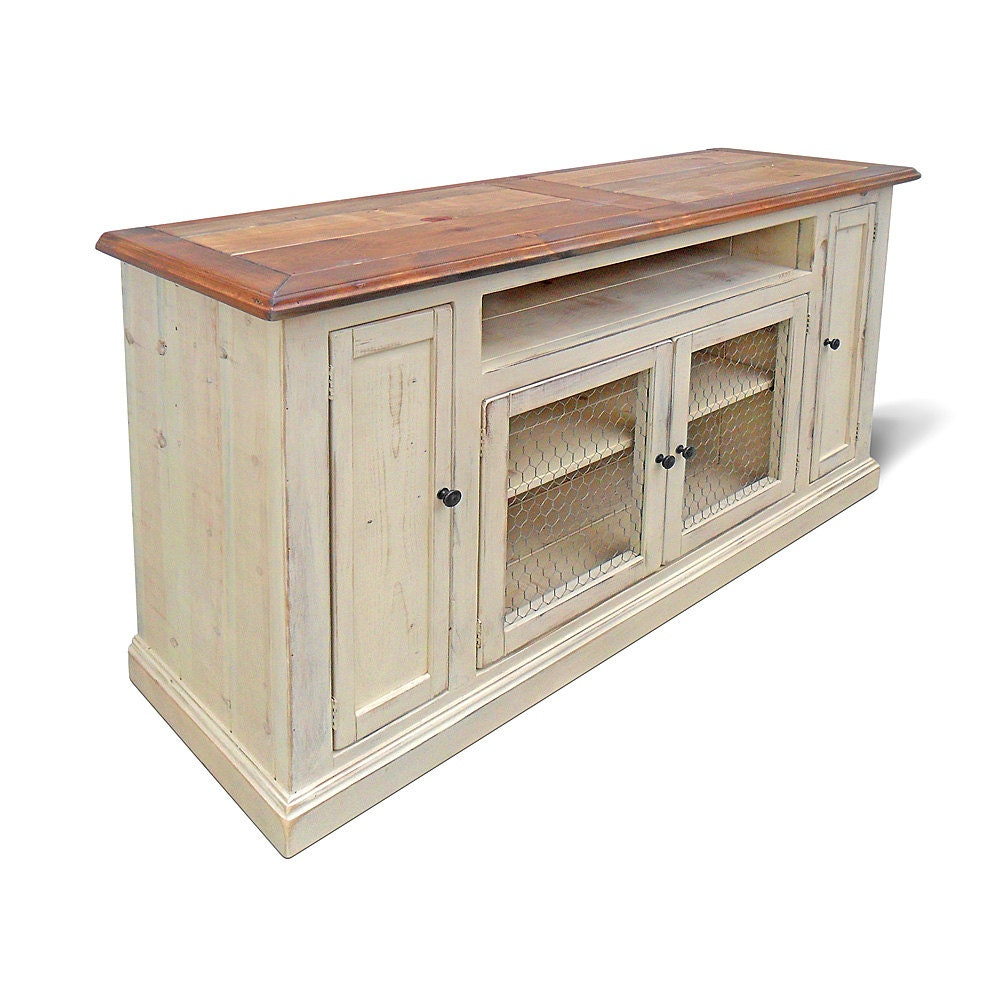 Media console tv stand reclaimed wood entertainment center Wooden entertainment center furniture