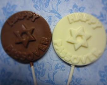Happy Passover.  Chocolate lollipop.
