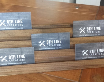 Multiple Business Card Holder, Gift Card Display, Business Card Stand, Business Card Display,  4 Tier,Walnut, 12 Different cards