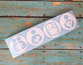 Breastfeeding decal - co sleeping decal - attachment parenting decal - cloth diapering decal - car decal baby wearing decal