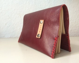Personalised Red Leather Passport Cover