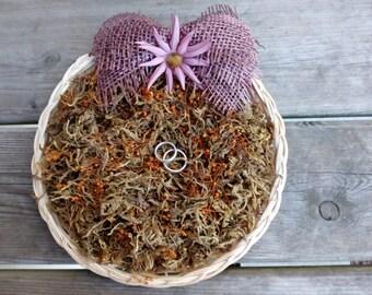 Ring Bearer, Ring Bearer Nest, Wicker Ring Bearer, Wedding Ring Bearer, Diameter 9 inch