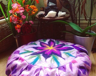 Zafu Meditation Cushion Handmade 100% Organic Buckwheat Hulls