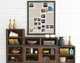 "Personalized ""Polaroids w/ letters"" Wall Art"