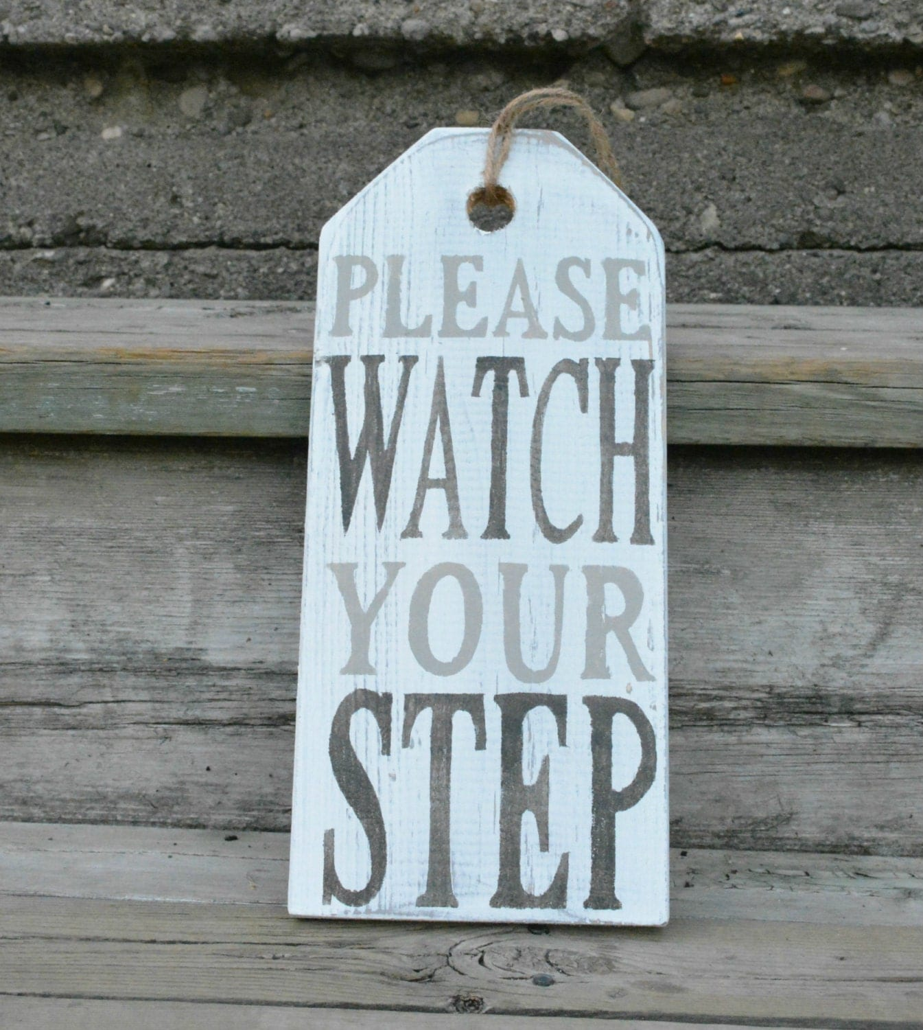 please watch your step sign warning sign front door decor