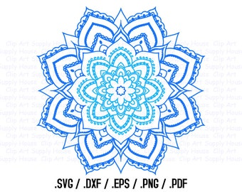 Mandala Circle Design Files, Use With Silhouette Software, DXF Files, SVG Font, EPS File, Svg Font, Silhouette Cameo, Cricut Design - CA260