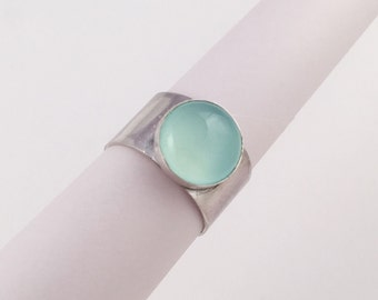 Light Blue Chalcedony Ring, Size 5.5