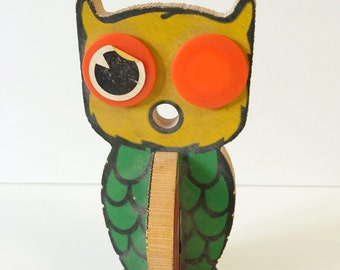Vintage Wooden Owl