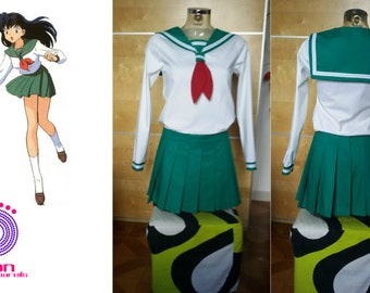 Kagome inuyasha uniforms female cosplay costume