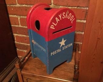 Playskool postal station toy from 1950s