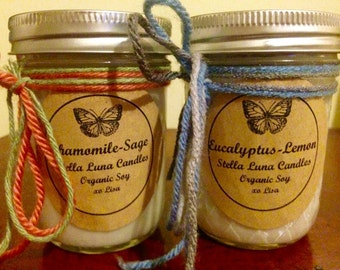 Chamomile-Sage Handcrafted Essential Oil Candles