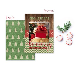 Printable and Personalized Christmas Card