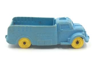 Vintage Auburn Rubber Truck Blue Toy Truck Rubber Truck