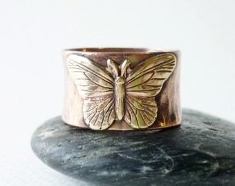 Butterfly  Wide Copper Band