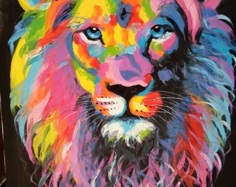 Lion painting oil painting on canvas