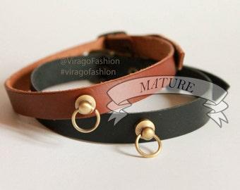 Leather choker | Leather collar| Mature | Bdsm day Collar | O-ring choker | Neck Corset | Posture Collar | Halskorsett  | Bondage Collar |
