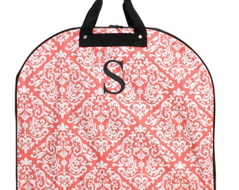 Monogram Diamond Damask Coral Garment Bag