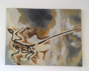 Micro raptor painting