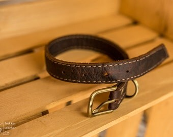 """Custom Leather Dog Collar 