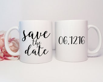 Save the Date Coffee Mug Personalized