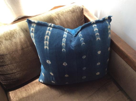 Handmade Mali Indigo Mud Cloth Pillow. *2