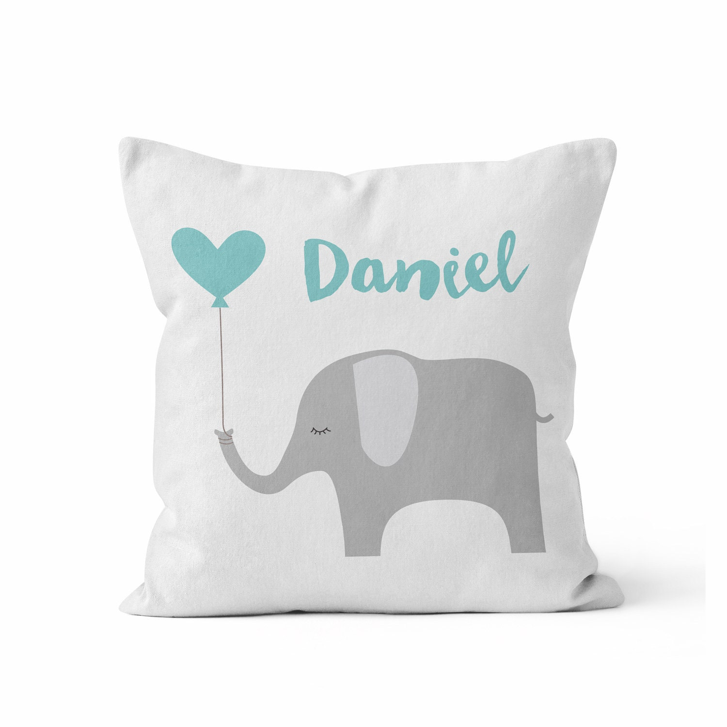 Custom Baby Boy Name Nursery Throw Pillow/ Custom Color