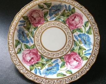Coalport PINK ROSE & CONVOVULUS - a Celebration Coalport Roses Collection - Limited Edition