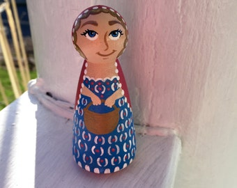 Little Red Riding Hood ~ Wooden Peg Doll