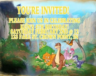 The Land Before Time Invitation