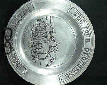 Collectible Armetale Plate Featuring The Four Georgians Helena Montana   01145