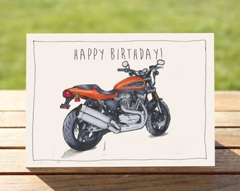 "Motorcycle Birthday Card Sportsbike | A6 - 6"" x 4"" / 103mm x 147mm 