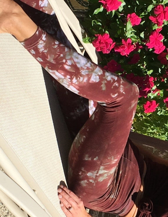 Tall Earth Brown Green Tie Dye Yoga Leggings Including Extra Long and Plus Sizes by Splash Dye Activewear