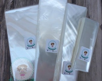 100 Clear Cellophane bags, Cookie Bags, Food Packing, Favor Bags, Invitation Bags,
