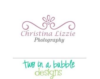 Custom Premade Logo Design for Photography and Small Businesses Elegant