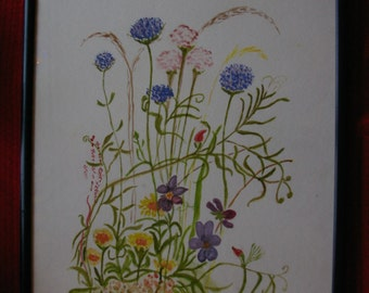 Flowers water colour by B Pontin
