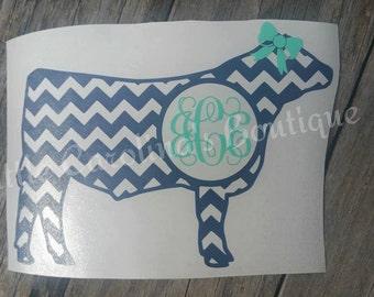 Monogram Chevron Cow