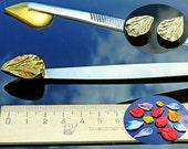 Callisto delicate 3D Tweezers-press medium shape real petal, lampwork tools, lampworking, handmade, glass